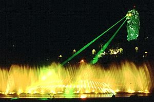 Lasershow am Merlion